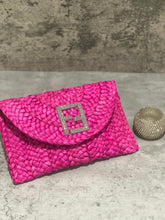 Load image into Gallery viewer, Pink Straw Clutch