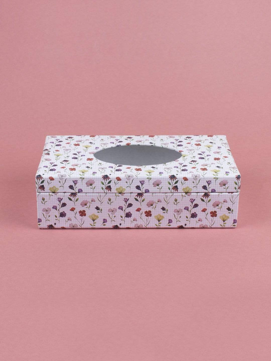 Checkered Garden Tissue Box