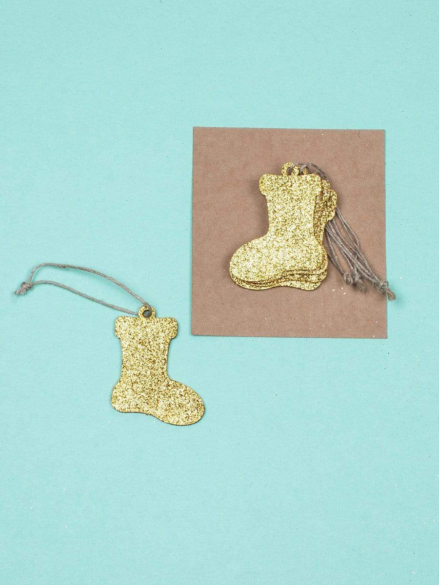 Christmas Wooden Hanging-Pack of 12- Silver & Golden