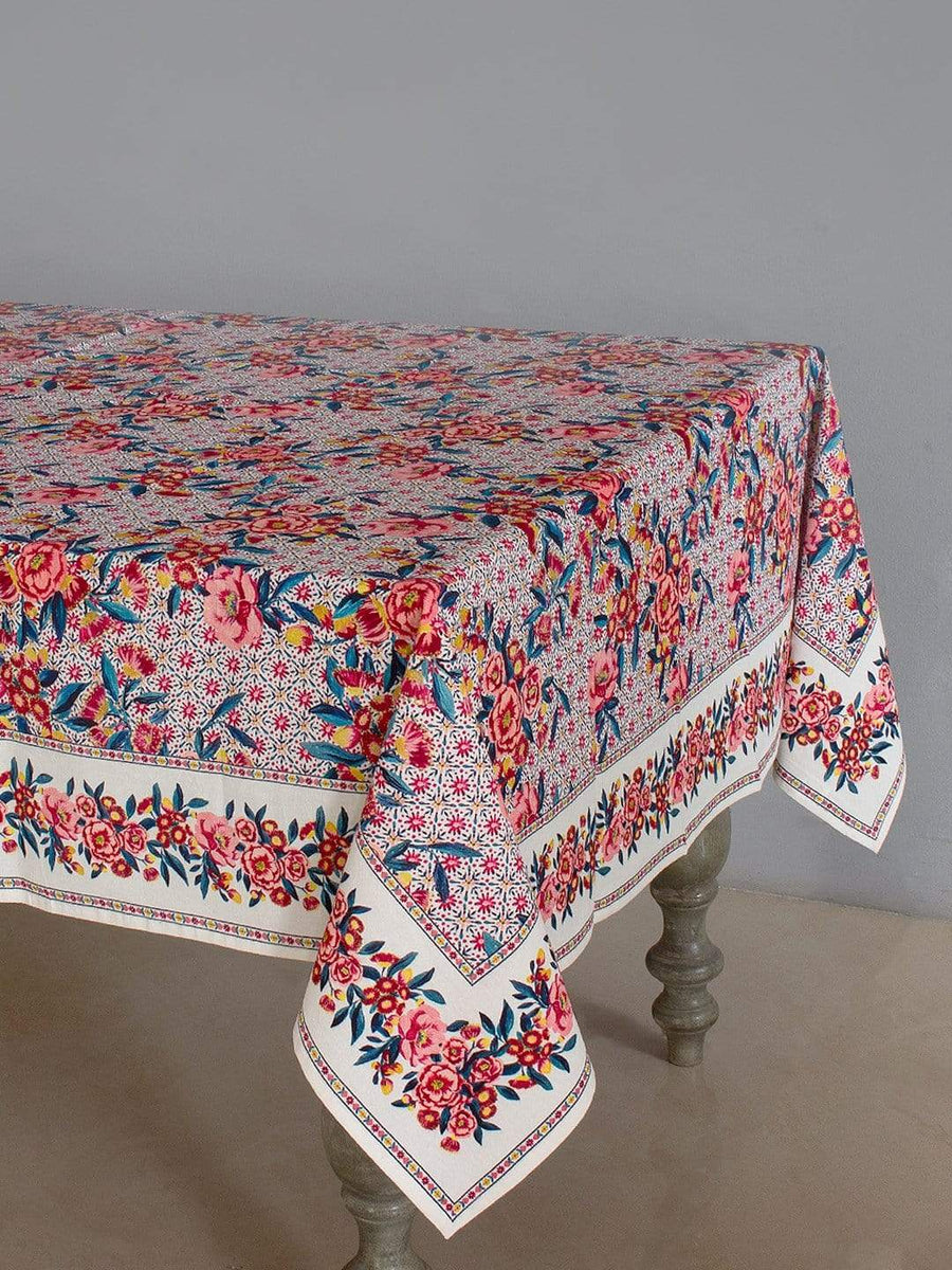 Poppy Petals Table Cover- 8 Seater