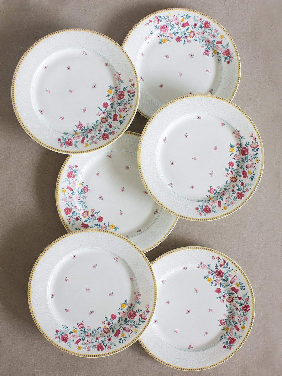 Raindrops and Roses Dinner Plate- Set of 6