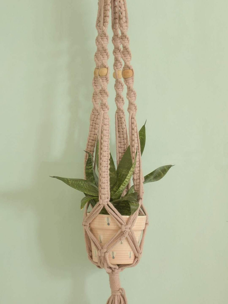 Bell Flowers Macrame Planter Holder