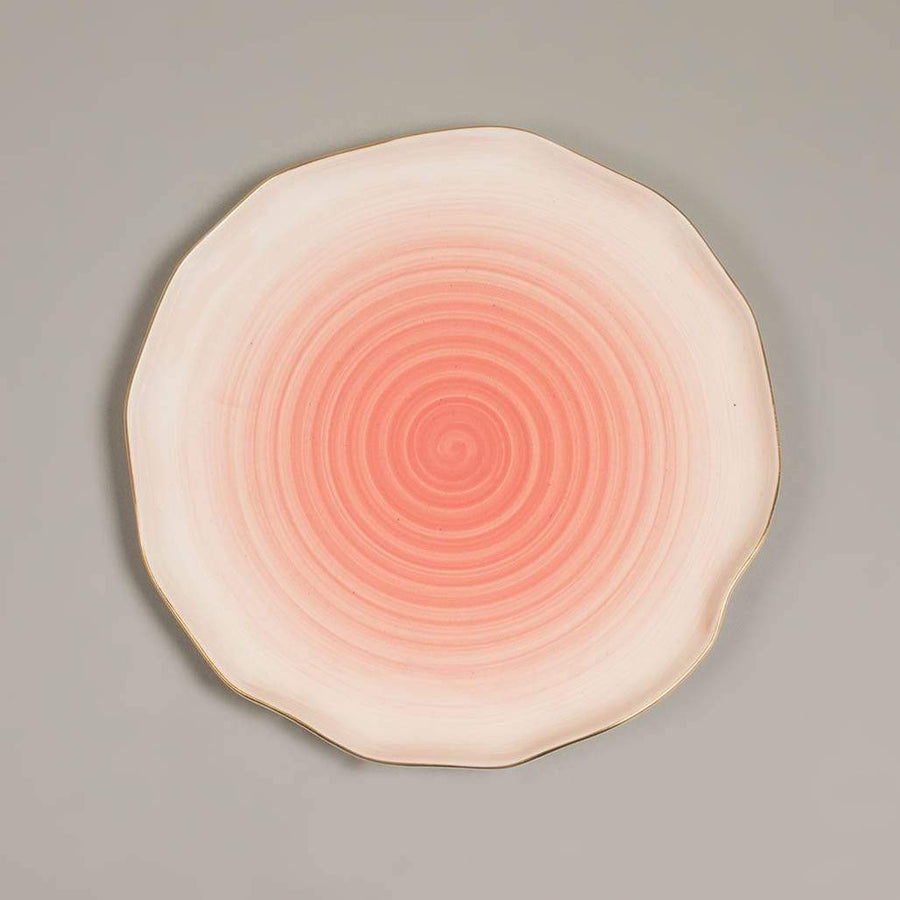 Blossom Pink Watercolor Magic Dinner Plate