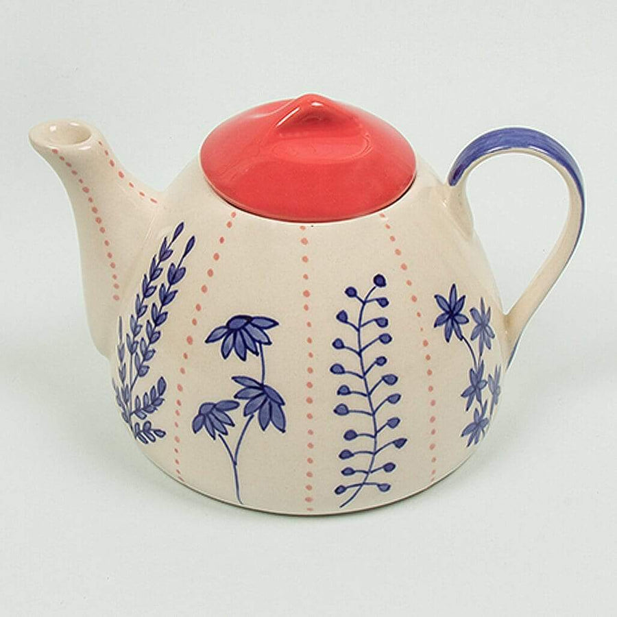 Blue Garden Teapot Set