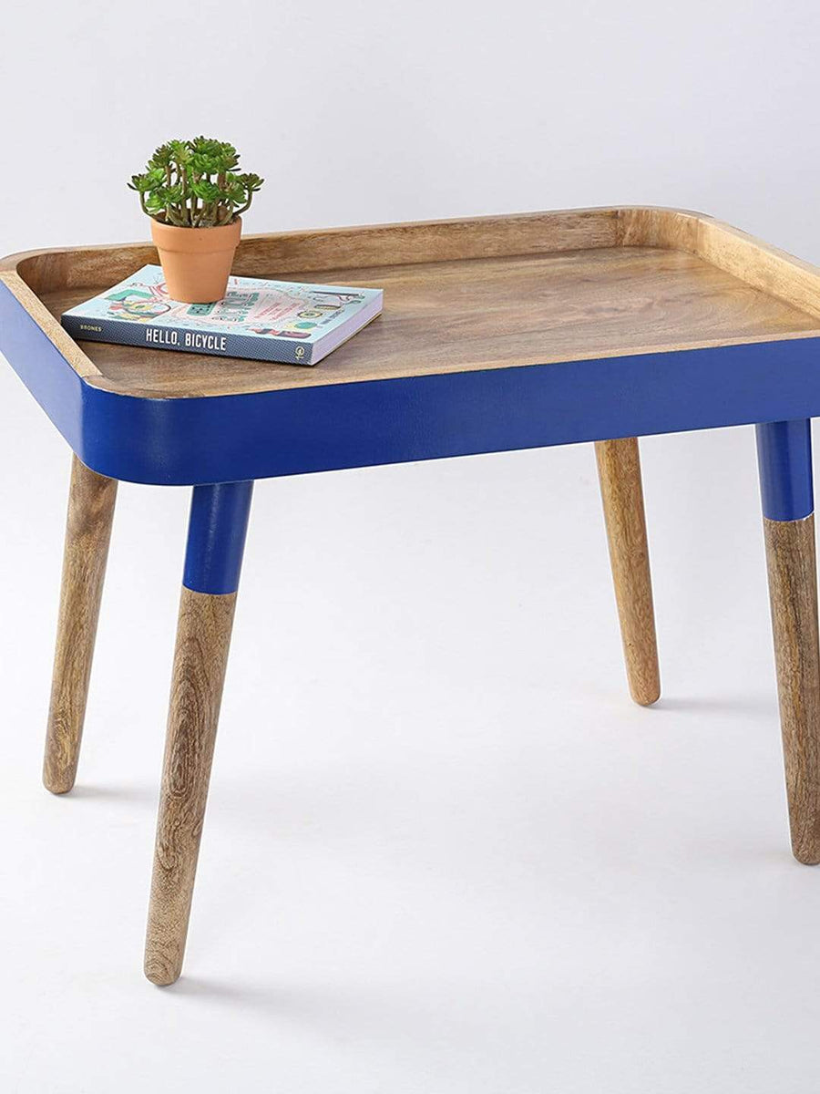 Cobalt Breakfast in Bed Tray Side Table