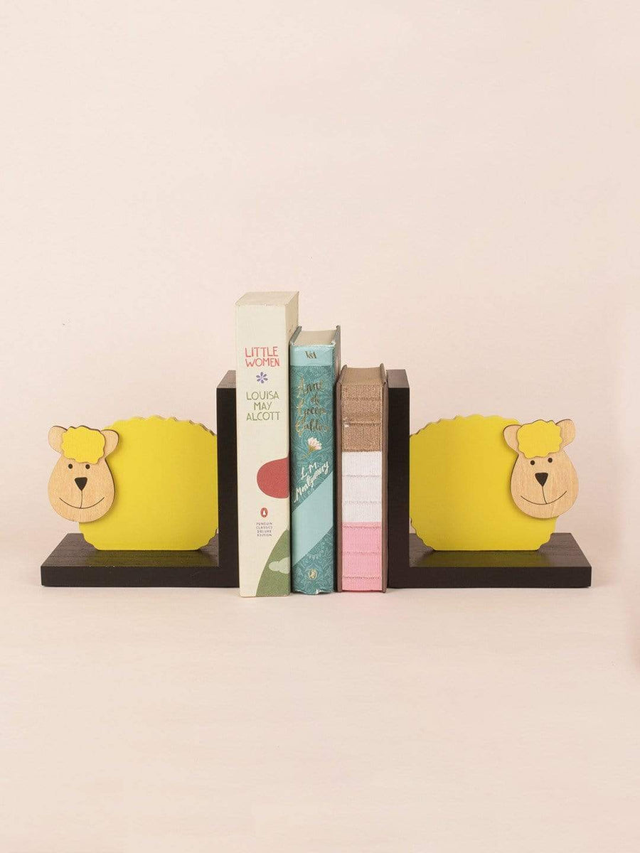 Dolly the Sheep Wooden Bookend Set of 2