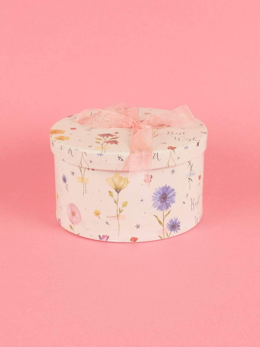 Dried Flowers Gift Box- Large Round