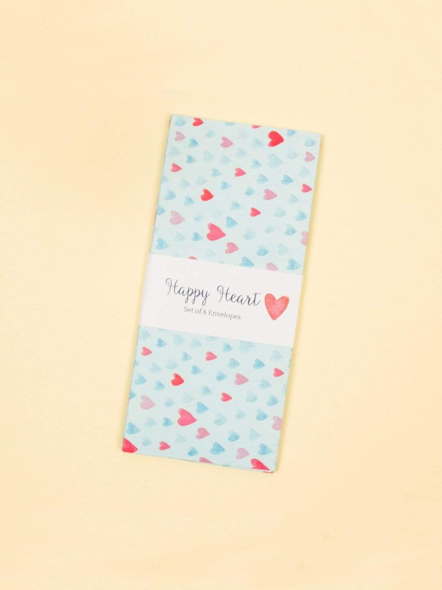 Happy Hearts Envelopes Set of 6