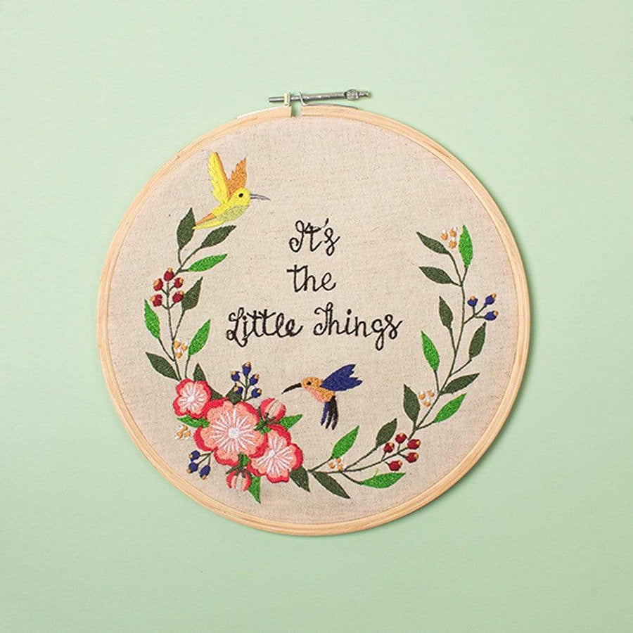 It's The Little Things Wall Hoop -10 inch