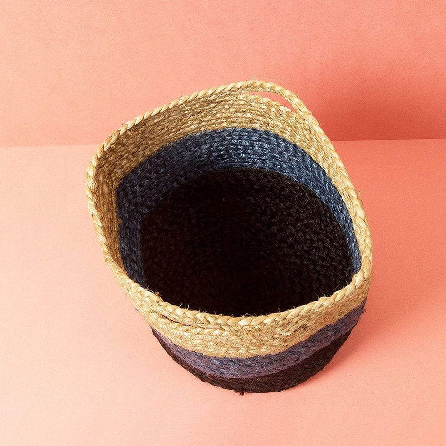 Jute Storage Basket - Black