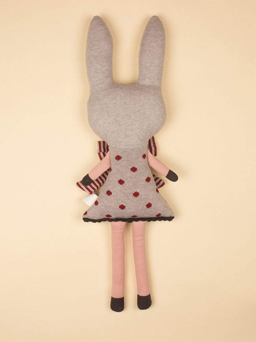 Miss Rabbit Knitted Shaped Cushion