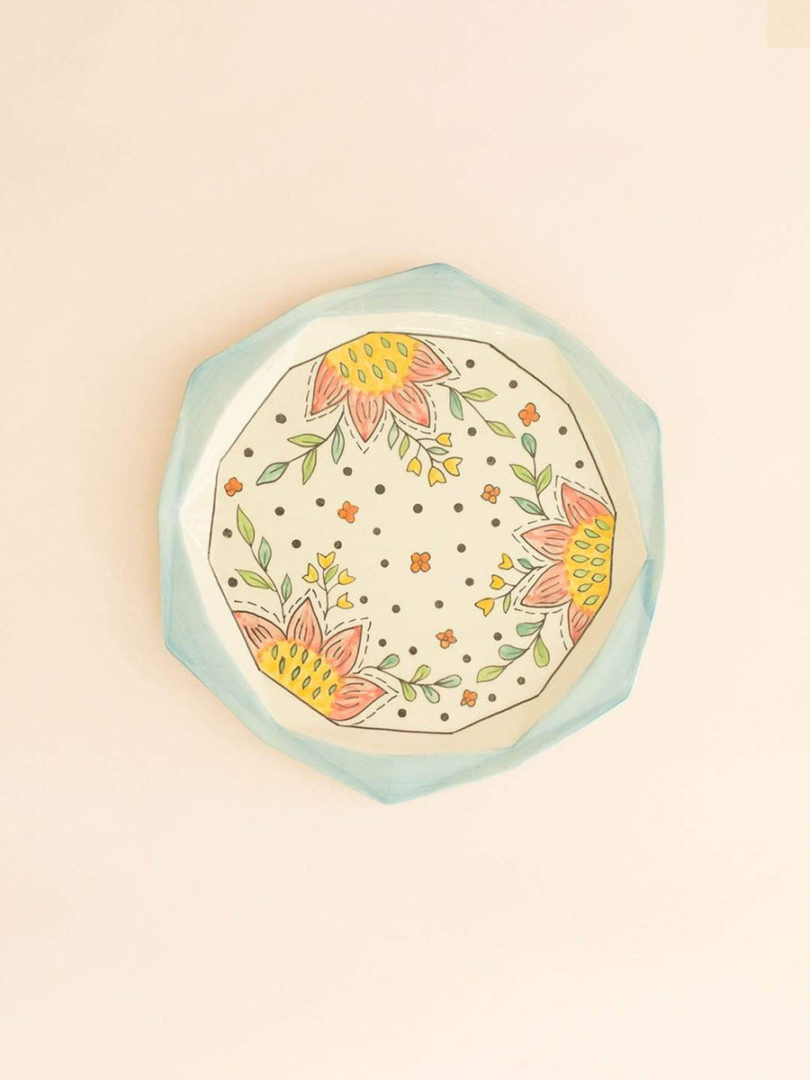 Ocean Song Hexagon Plate Large