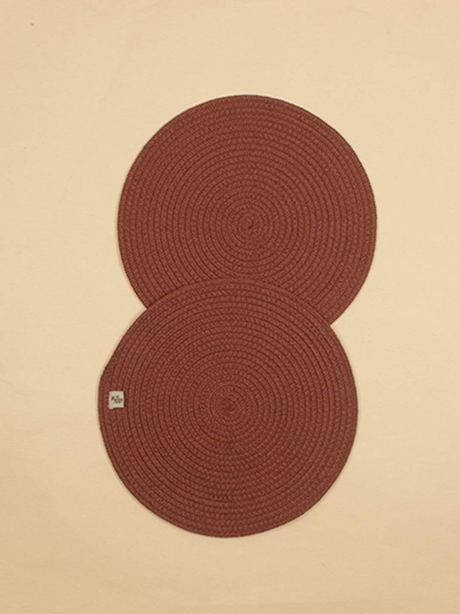 Polyproplene Braided Placemat Set of 2