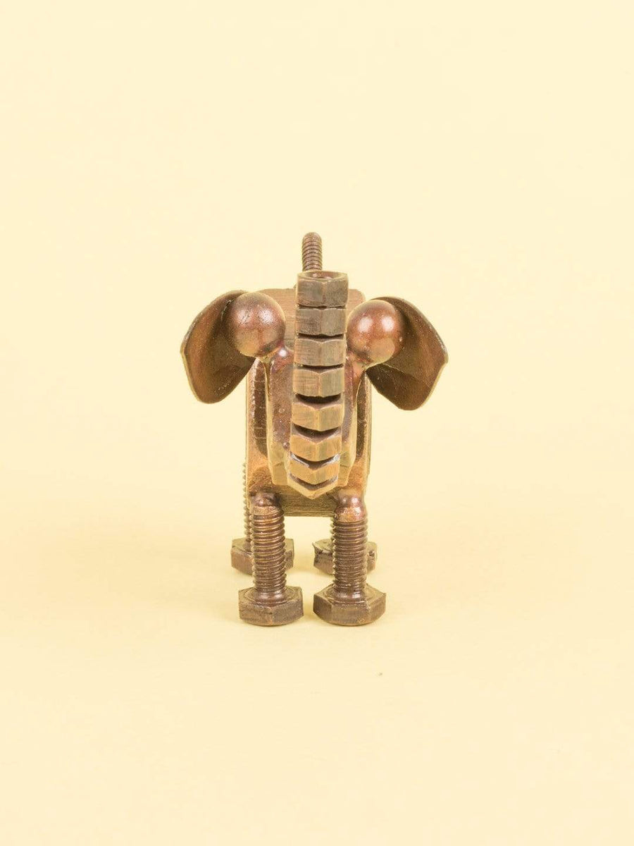 Recycled Decorative Elephant- Copper Antique