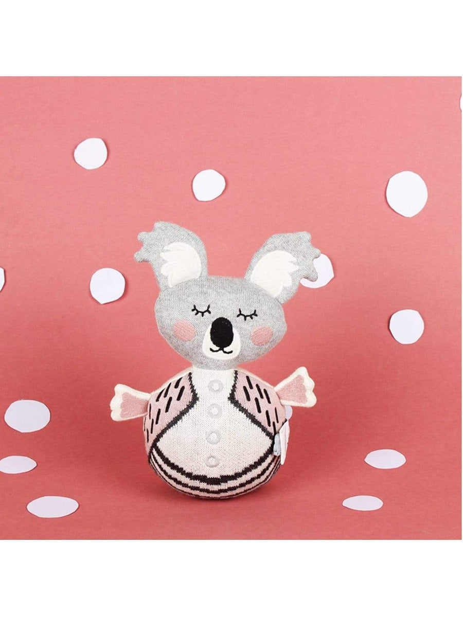 Rolly Polly Knitted Cotton Toy & Rattle