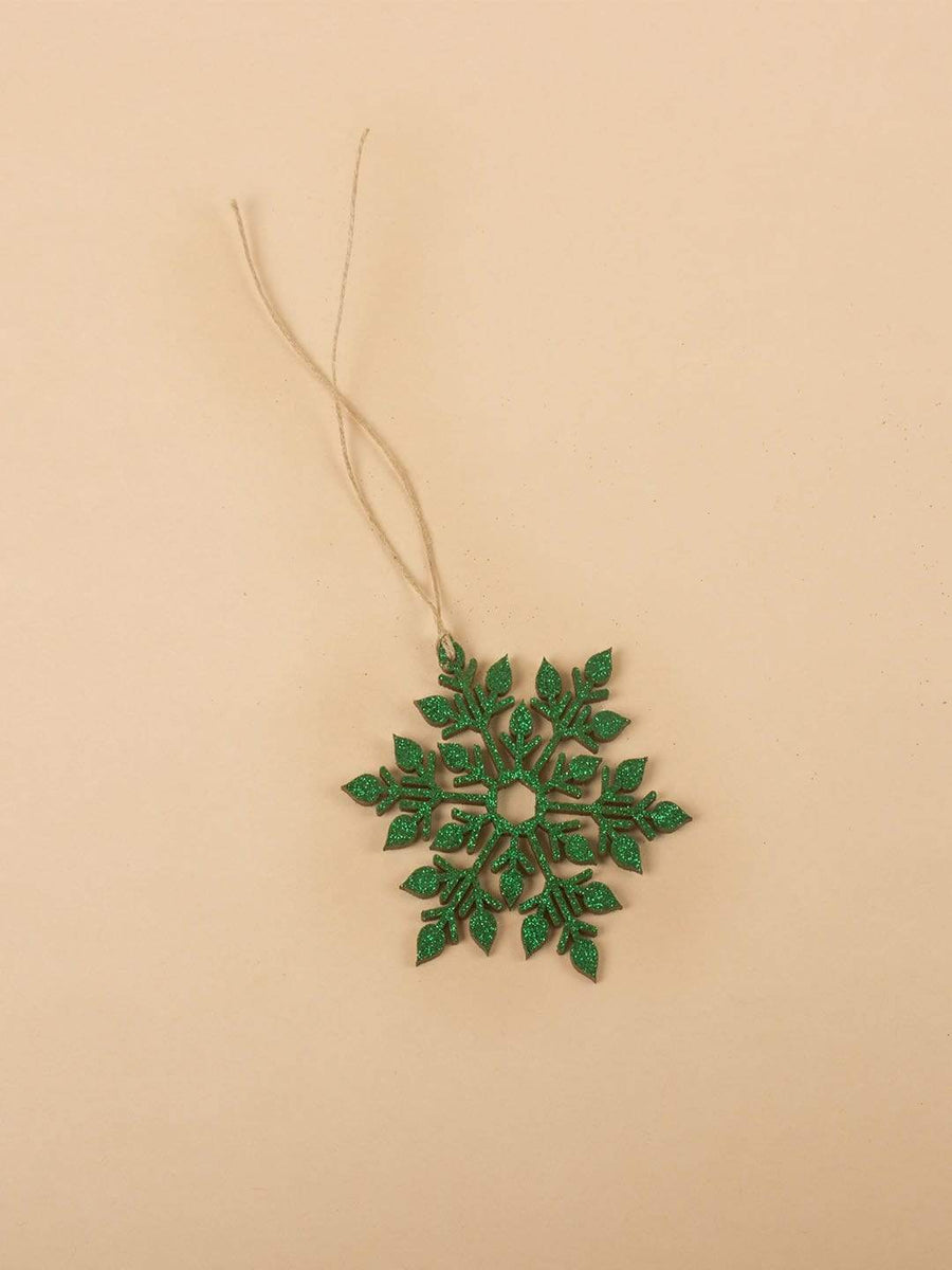 Snowflakes Wooden Hanging- Set of 6