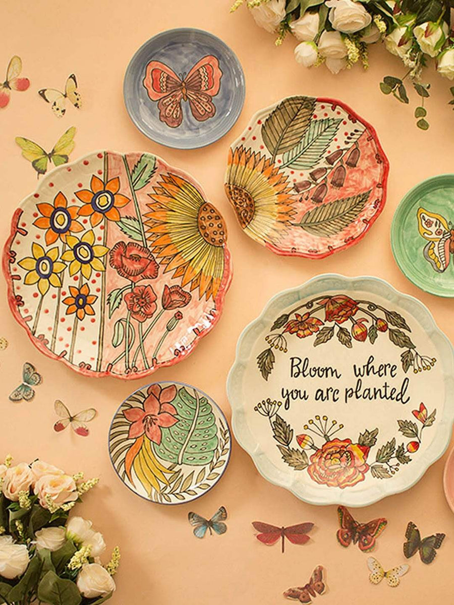 Sunflower Wall Plates - Set of 2