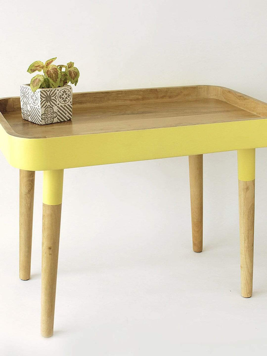 Yellow Breakfast in Bed Tray Side Table