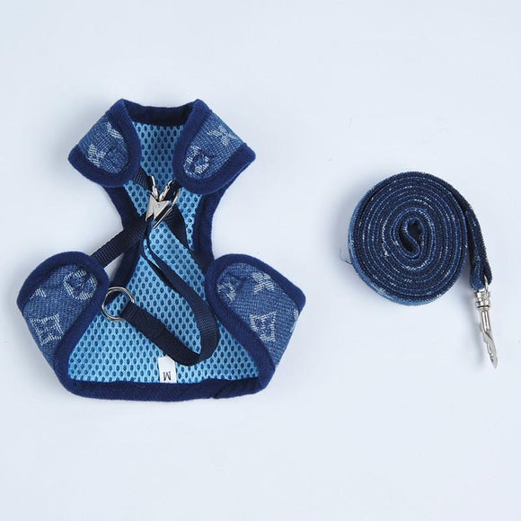 LV MONOGRAM HARNESS + LEASH SET (DENIM) FINAL SALE WHILE SUPPLIES LAST