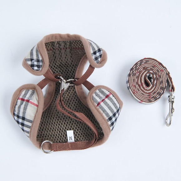 PAWBERRY PLAID HARNESS + LEASH SET (MULTI) FINAL SALE WHILE SUPPLIES LAST