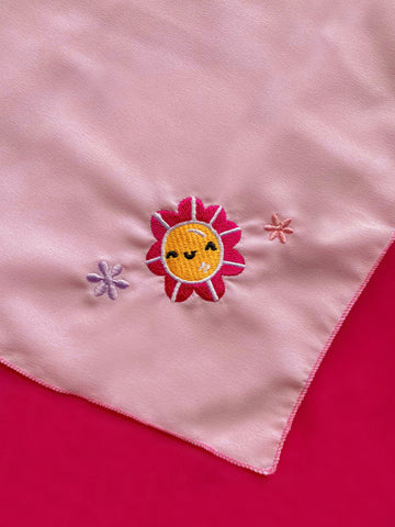 Happy Flower Baby Pink Bandana