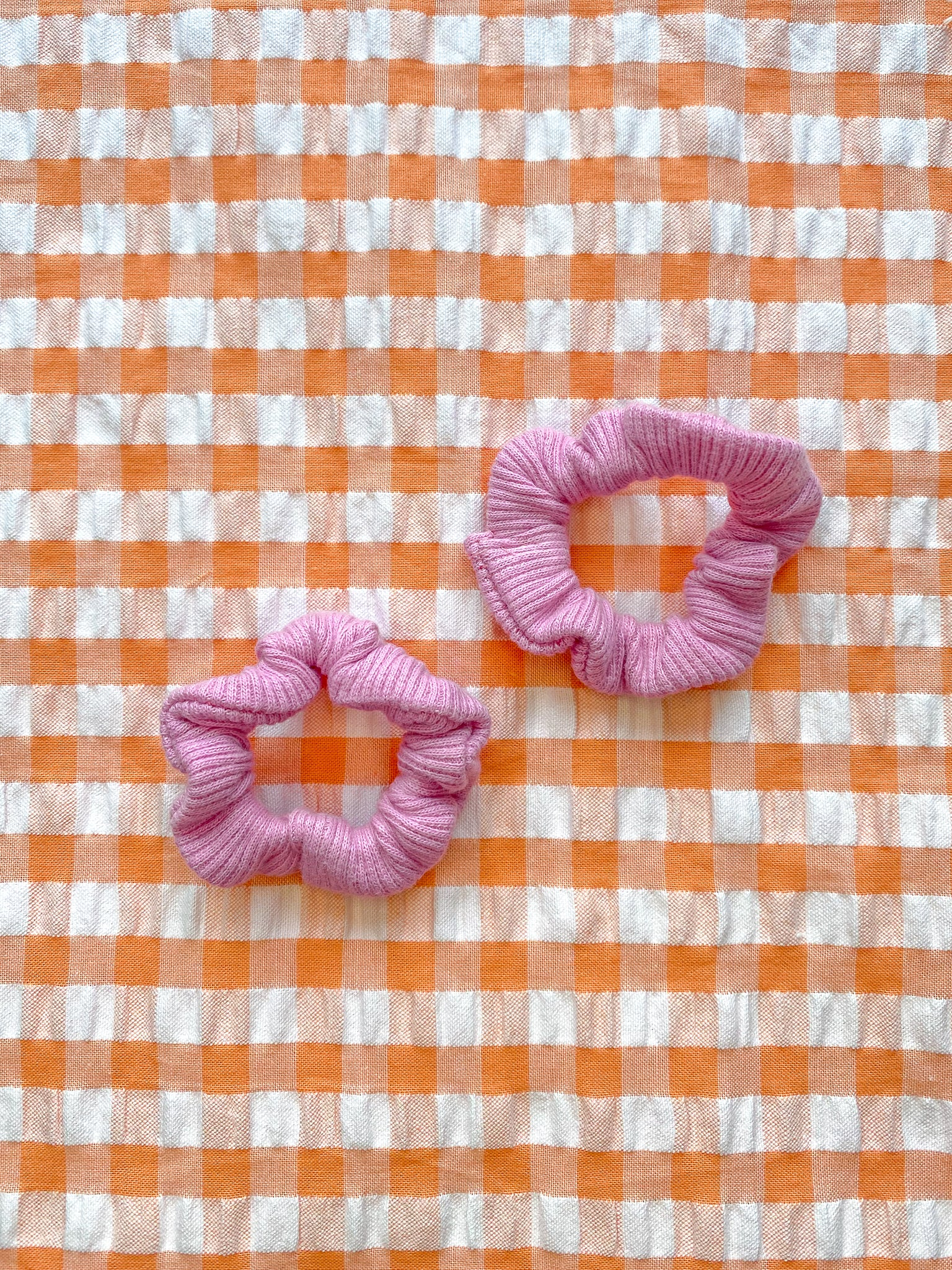 Baby Pink Mini Scrunchies (Set of 2)