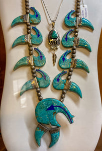 Lapis Inlaid Turquoise Necklace representing our Jewelry collection