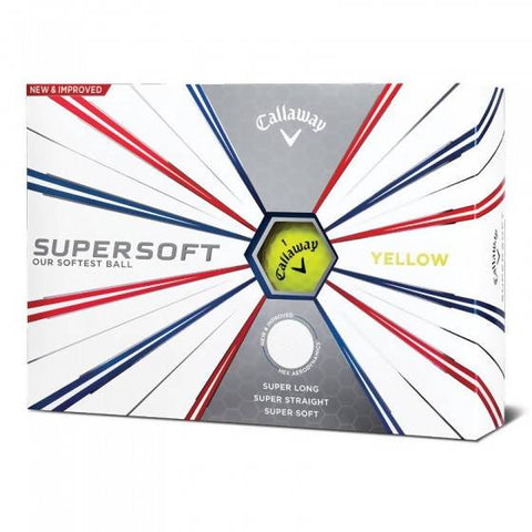 Callaway Supersoft Golf Balls - 1 Dozen Yellow