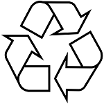Recycle certification logo