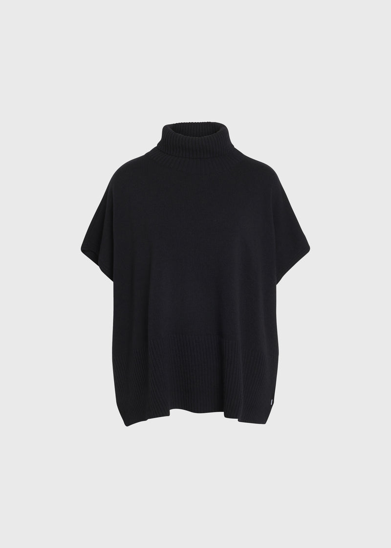 Klitmøller Collective ApS Alba knit poncho Knitted sweaters Black