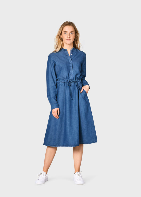 Klitmøller Collective ApS Cornelia dress Dress Dark blue chambrey