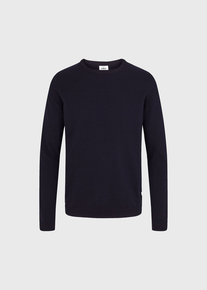 Klitmøller Collective ApS Daniel knit Knitted sweaters Navy