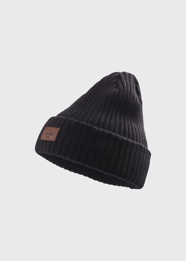 Klitmøller Collective ApS Heavy rib beanie Beanies Black