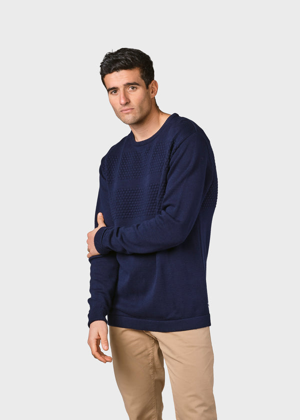 Klitmøller Collective ApS Herbert knit Knitted sweaters Navy