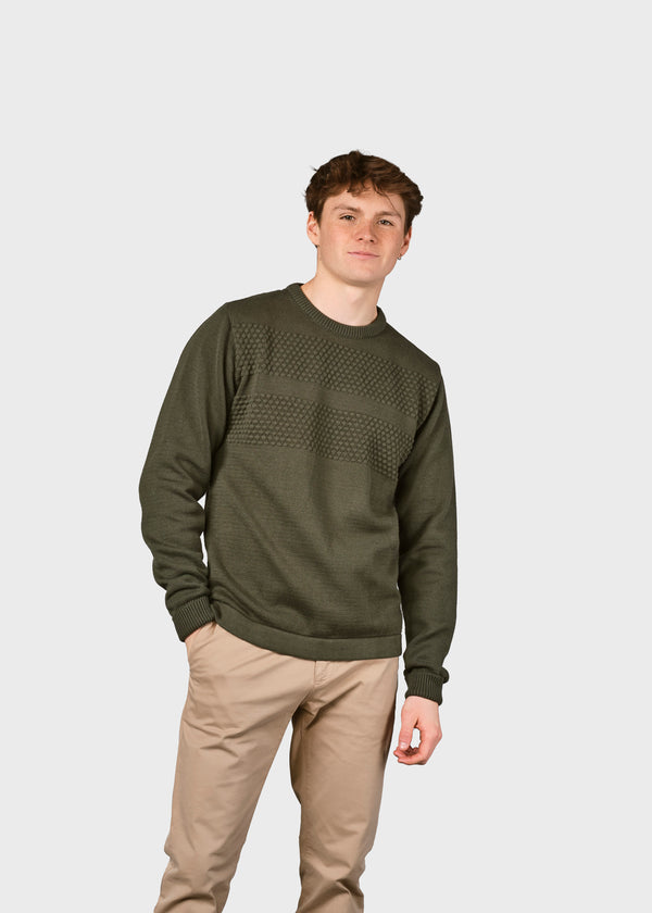 Klitmøller Collective ApS Herbert knit Knitted sweaters Olive