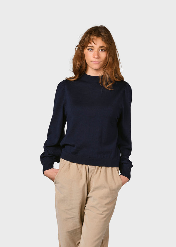 Klitmøller Collective ApS Lola knit Knitted sweaters Navy