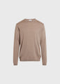 Mens basic merino knit - Sand