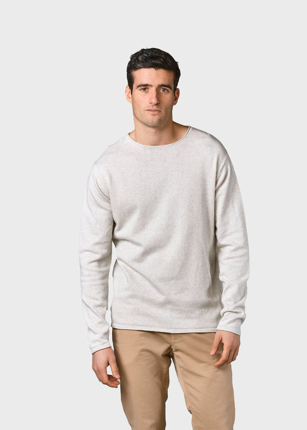 Klitmøller Collective ApS Noah knit Knitted sweaters Cream melange