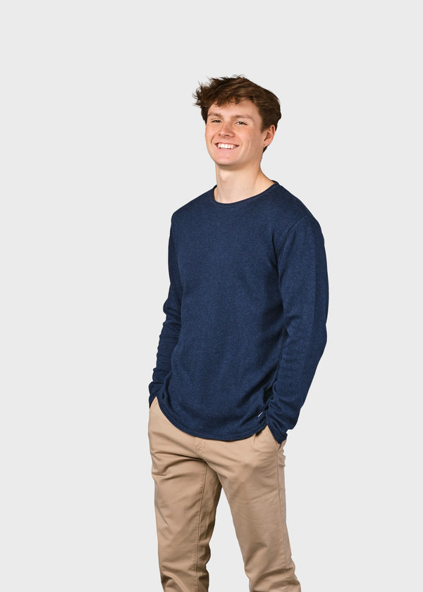 Klitmøller Collective ApS Noah knit Knitted sweaters Ocean