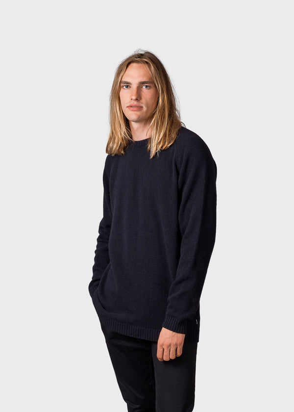 Klitmøller Collective ApS Ole knit Knitted sweaters Black