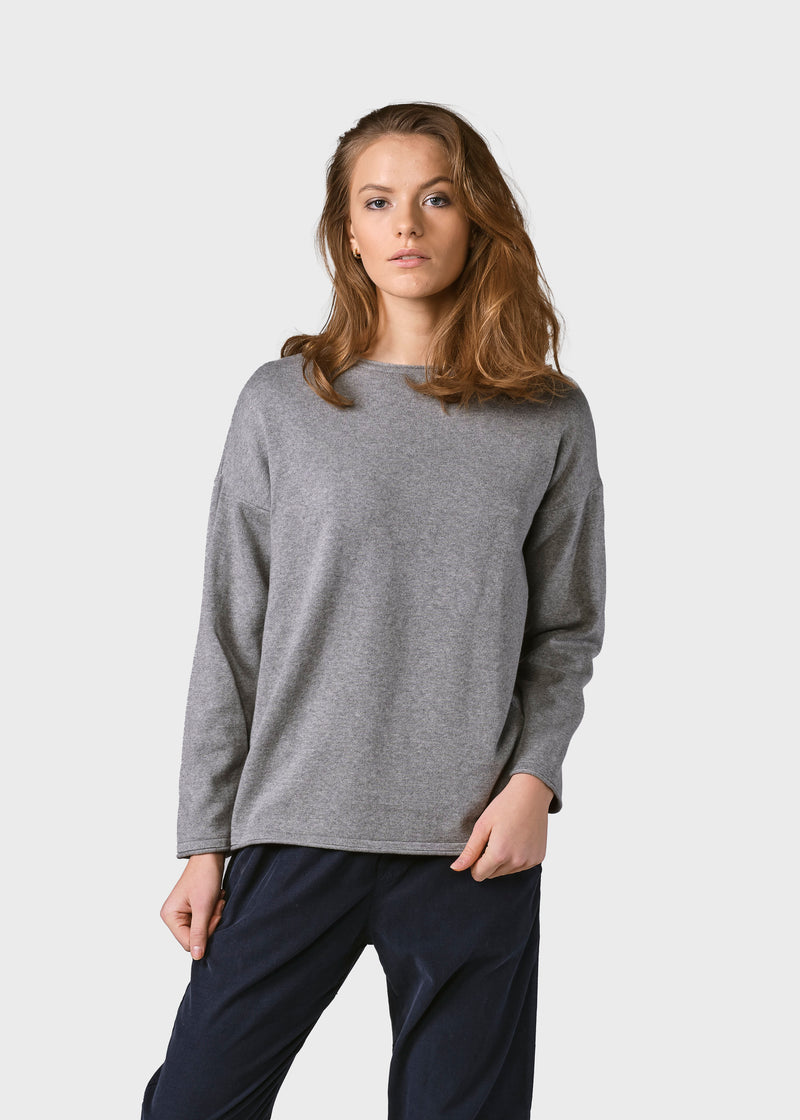 Klitmøller Collective ApS Patricia knit Knitted sweaters Light grey