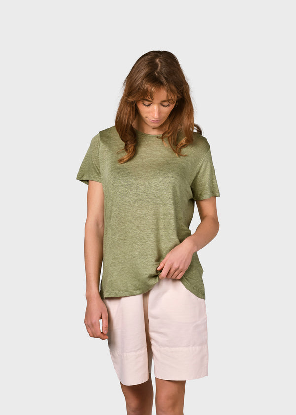 Klitmøller Collective ApS Rikke linen tee T-Shirts Pale green
