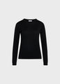 Womens basic merino knit - Black