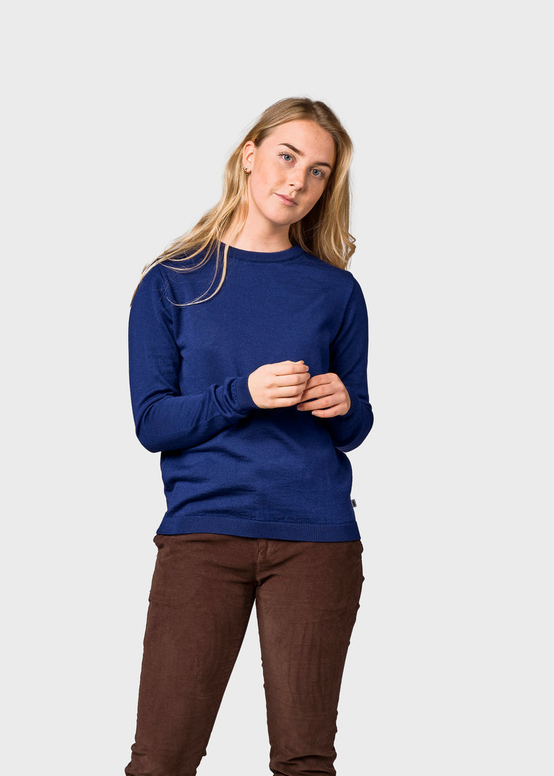 Klitmøller Collective ApS Womens basic merino knit Knitted sweaters Ocean