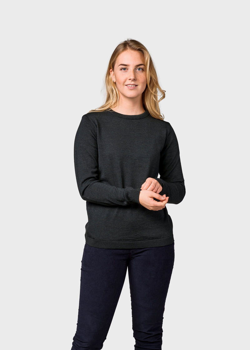 Klitmøller Collective ApS Womens basic merino knit Knitted sweaters Olive