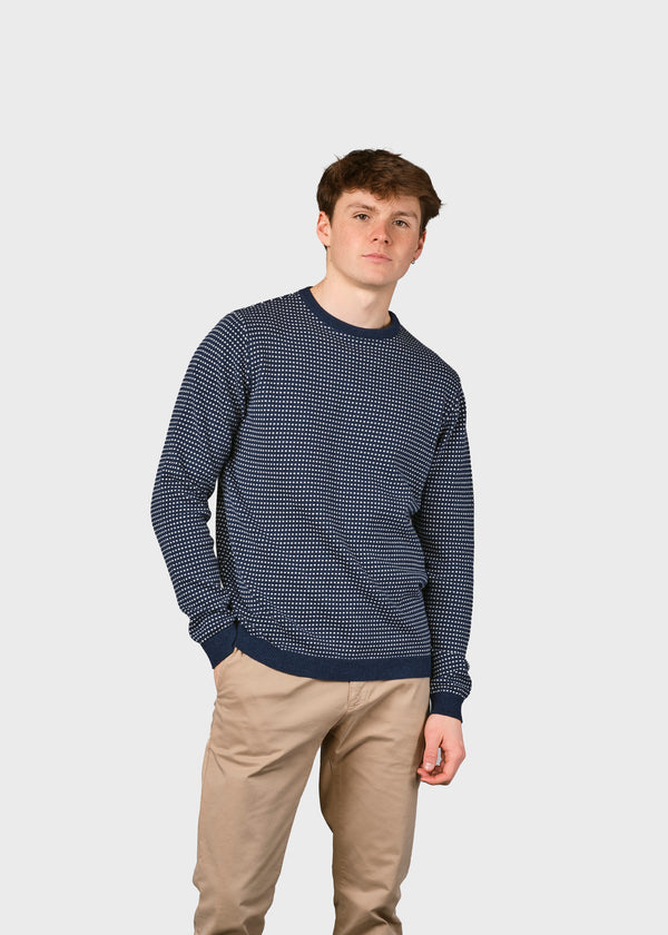 Klitmøller Collective ApS Otto knit Knitted sweaters Ocean/cream