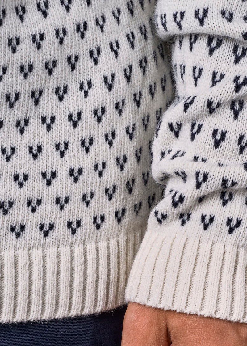 Klitmøller Collective ApS Hugo knit Knitted sweaters Cream/navy