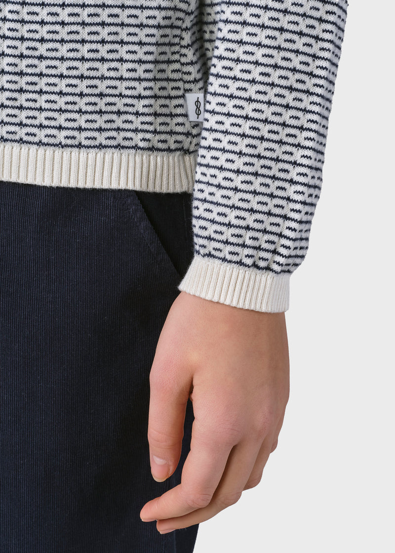 Klitmøller Collective ApS Silje knit Knitted sweaters Cream/navy