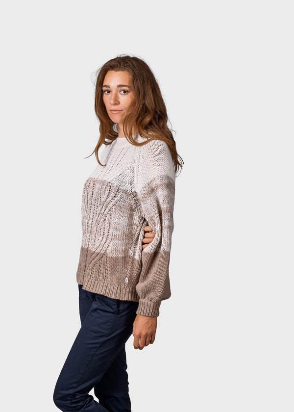 Klitmøller Collective ApS Viva knit Knitted sweaters Cream/sand