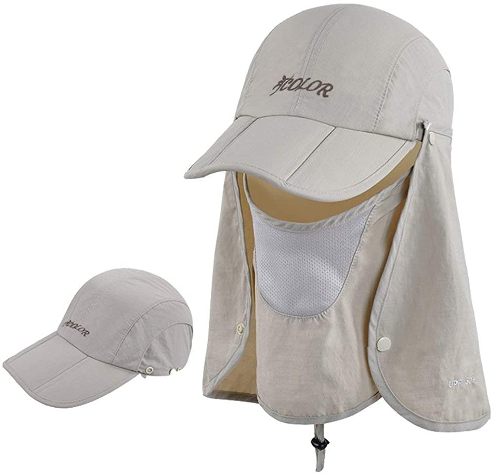 Sun Cap Fishing Hats With Face Mask